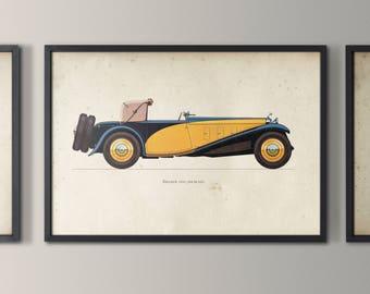 Classic Car Art - Vintage Art Print - Car Decor -  Car Art - Kids Car print -Vintage Car Print - Car Nursry Art - Boy Nursery Art Circa 1933