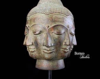 statue de bouddha aux quatre visages joie col re. Black Bedroom Furniture Sets. Home Design Ideas