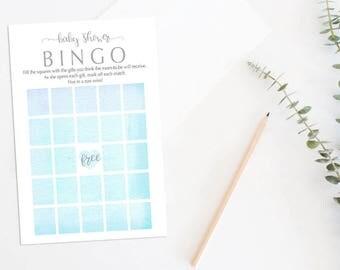 Printable Baby Shower Bingo Game, Baby Bingo, Baby Shower Games, Printable Baby Bingo Game, Boy Baby Bingo, Boy Baby Bingo, 050BBS