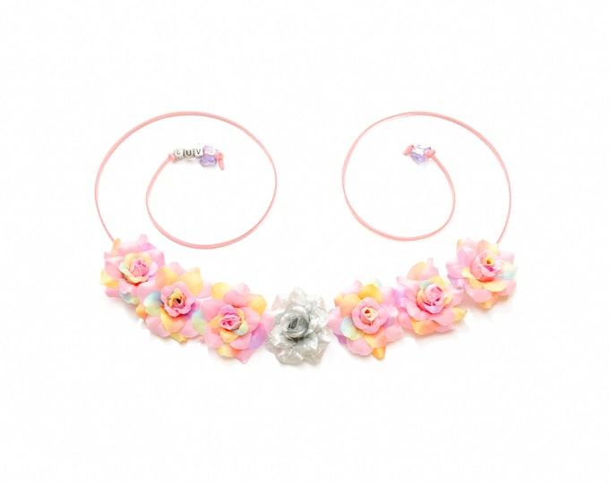 It's a Girl Rose Flower Crown