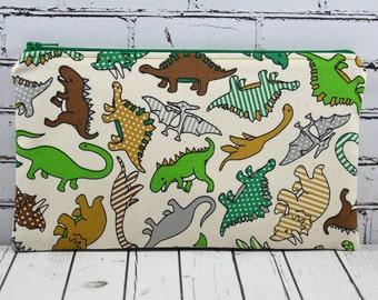 Dinosaur Pencil Case, Boys, Girls Pencil Case, Dino Zip Pouch