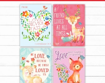 christian valentine cards bible verse valentines valentines school printable kids valentines jesus - Bible Verse For Valentines Day