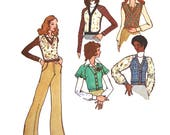 Butterick 6840 Vintage 1970s Betsey Johnson collection of tops uncut sewing pattern