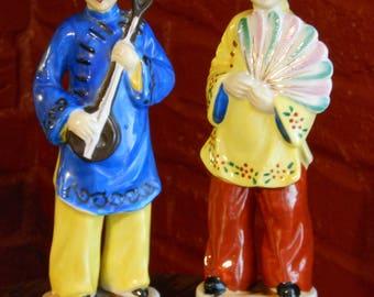 Tall Male & Female Occupied Japan Figurines