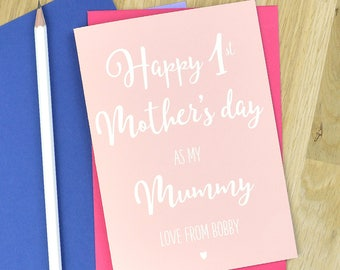 First Mothers day card for Mummy, personalised first Mother's day card, card for new Mum