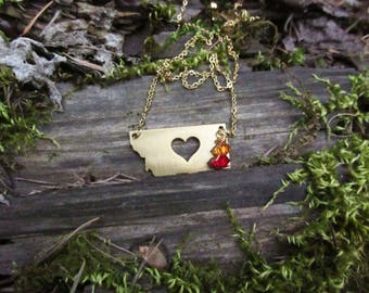 Montana Birthstone Necklace