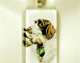 German Wirehaired Pointer pendant and chain - DGP02-357