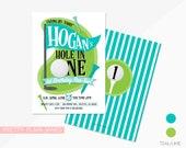 Golf Birthday Invitation | Golf Birthday Par-tee | Printable Golf Birthday Invitation | Boy or Girl Golf 1st Birthday | Hole in One Invite