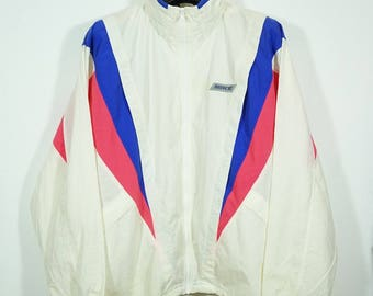 Vintage 90's Nike Multi Color Nylon Windbreaker Jacket Size Large L / vintage nike jacket / vintage nike windbreaker 90s nike jacket