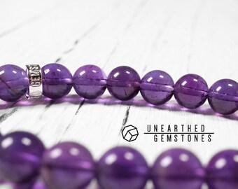 AAA Amethyst Bracelet - February Birthstone Bracelet, Natural Amethyst Bracelet, Genuine Amethyst Bracelet, Womens Bracelet, Purple Quartz