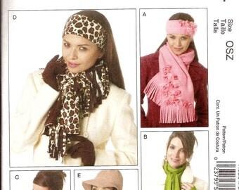 Womens Scarf Headband Neck Warmer Hat Gloves Sewing Pattern / McCalls 6354 / UNCUT
