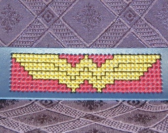 Wonder Woman Logo Bracelet Cuff hand made jewelry
