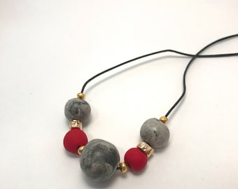 Ruby Dream Beaded Necklace | Unique Handmade Jewelry