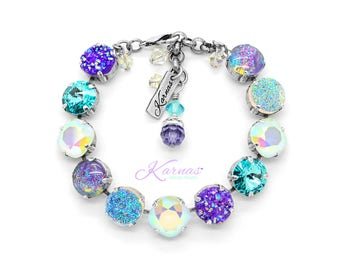 EUPHORIA 12mm Mixed Element Bracelet Made With Swarovski Crystal *Pick Your Finish *Karnas Design Studio *Free Shipping