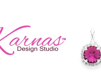 12MM HALO DROPS *Pick Your Color *Leverback Earrings Made With Swarovski Crystal *Choose Your Finish *Karnas Design Studio™ *Free Shipping*
