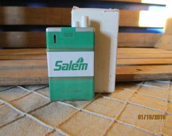 Vintage New Old Stock Salem Cigarette Pack Shaped Lighter Menthol R.J. Reynolds New in Original Box