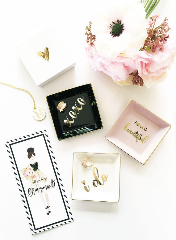 Unique Wedding Gifts For Friends: I Do Ring Dish Holder Gift For Bride Gift Ideas Unique