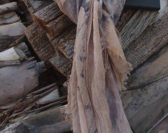 Hand made eco dyed scarf or sarong