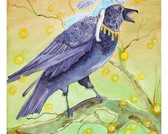 "Print of ORIGINAL watercolor painting ""Tatiana"""