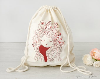 """Cotton backpack """"Poppy"""""""