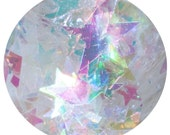 Ice Cream Castle Fairy House | Loose Iridescent Star & Mylar Flake Glitter Mix for body, face, hair, festivals, crafts | Jar is 15 mL