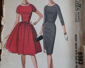 VINTAGE MCCALL'S Dress Pattern #6563 (1962) (Size 16)