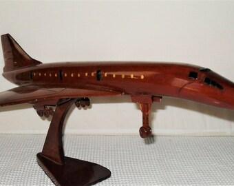 Handcrafted Concorde mahogany wood Replica
