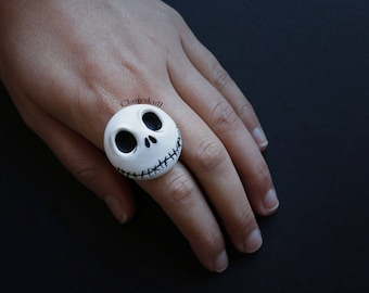 Jack Skellington adjustable ring (Nightmare Before Christmas)