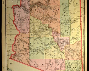 Arizona Map Etsy - Map arizona