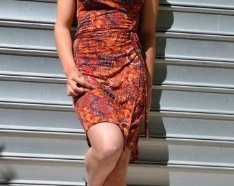 woman bellissima luck zania cotton wrap dress