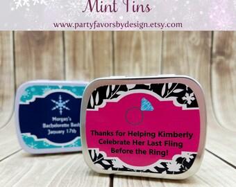 Custom Bachelorette Favors | Bachelorette Party Ideas | Bachelorette Party Supplies | 10 Mint Tins