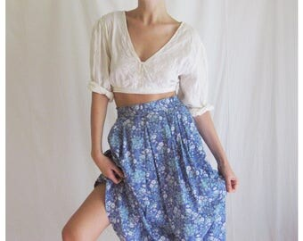 80s Liberty of London Peasant Skirt Small