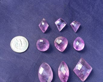 Single Piece ~ LARGE Amethyst Rare Quality 9 Natural Faceted sold Individually or all 9 with Wholesale pricing