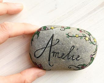 Custom Memorial Stone MADE TO ORDER personalised commemorative artwork hand painted on stone love sympathy gift