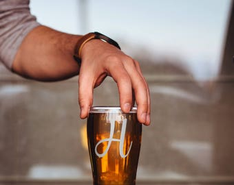 Monogram Glass - Etched Initial