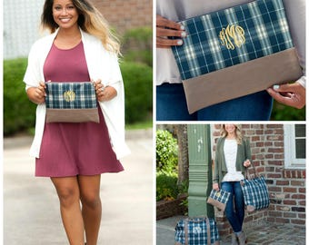 Middleton Plaid Collection Zip Pouch