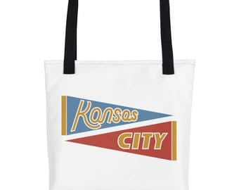 Kansas City Tote Canvas Bag - Hybrid Pennant Design from Landlocked
