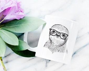 Sidney the Sloth Mug - Gifts For Animal Lover, Sloth Art, Sloth Gift