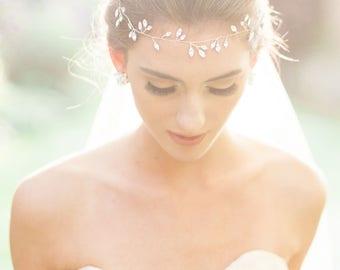 READY TO SHIP Rose Gold Sparkling Crystal Hair Vine,  Rose Gold Hair Accessories, Wedding Hair Accessories, Hair Vine, Headband, Boho Bride