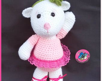 Teddy bear with her tutu ballerina pink