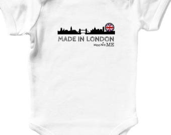 London onesie etsy made in london uk europe skyline unique custom baby onesie birth announcement pregnancy announcement hipster baby negle Image collections