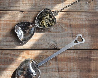 50 Stainless Steel Tea Strainer, Tea Infuser - Heart Heart-shaped - Wedding Favors, Party, Gifts, Tableware - Restaurant, Cafe Culinary