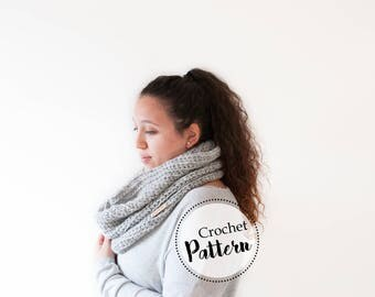The Meredith cowl crochet pattern || crochet scarf pattern || chunky crochet cowl pattern || woman crochet cowl scarf pattern