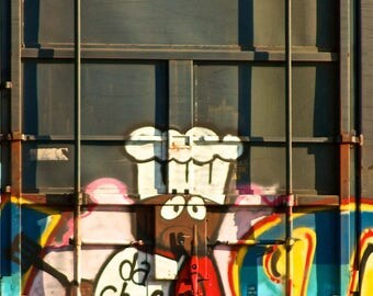 Da Chef: Train Art, graffiti. Frame not included. Individually photographed and printed by Frank Heflin