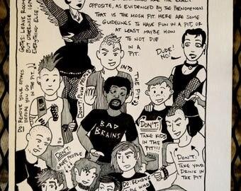 PunkPuns original artwork - Page Eight