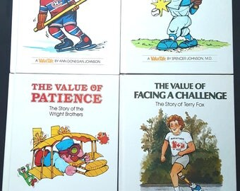 1970s/1980s Value Tale Books (set of 4)-Tenacity/Courage/Patience/Facing a Challenge