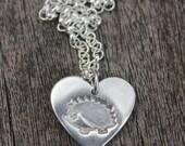 Hedgehog heart pendant, hedgehog love, love hedgehogs pendant, hedgehog heart necklace, silver hedgehog heart, hedgehog lover gift