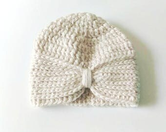 Crochet Baby Turban, Baby Girl Turban, Baby Girl Hat, Turban Style Baby Hat, Infant Turban Hat, Girl Turban, 3-6 Month Turban, Turban Hat,
