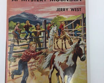 Vintage Happy Hollisters at Mystery Mountain by Jerry West, First Edition, 1954
