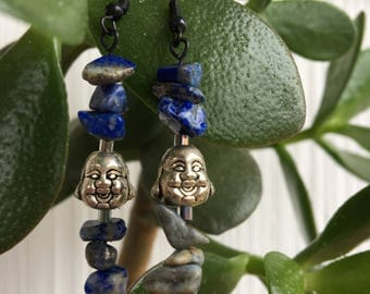 Buddhaful Lapis Lazuli Earrings